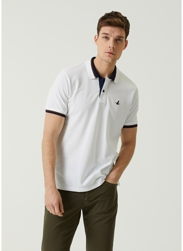 Beymen Club Beymen Club Comfort Fit  Polo Yaka T-shirt 101589612 Beyaz
